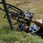 Tour de France 2011 — Stage 9 — Flecha & Hoogerland Car Crash